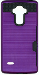 LG Stylo Slim Dura Metal Finish With Card Holder Purple
