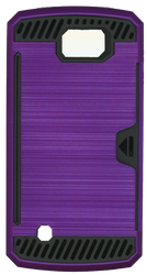 LG K4/Spree Slim Dura Case Metal Finish With Card Holder Purple