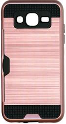 Samsung Galaxy J5 Slim Dura Case Metal Finish With Card Holder Rose Gold