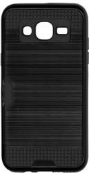Samsung Galaxy J5 Slim Dura Case Metal Finish With Card Holder Black