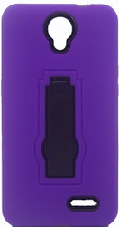 ZTE Avid Trio/Sonata 3/Prestige/ Avid Plus Armor Horizontal With Kickstand Purple