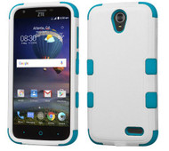 ZTE WARP7 N9519/Grand X3 MYBAT Natural Ivory White/Tropical Teal TUFF Hybrid Phone Protector Cover