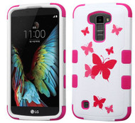 LG K10 MYBAT Butterfly Dancing/Hot Pink TUFF Hybrid Phone Protector Cover