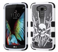 LG K10 MYBAT Sword & Skull/Black TUFF Hybrid Protector Cover