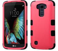 LG K10 MYBAT Natural Pink/Black TUFF Hybrid Phone Protector Cover