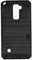 LG Stylo 2 Slim Dura Case Metal Finish With Card Holder Black