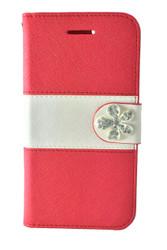 LG F60 Tribute MM Flower Wallet Red