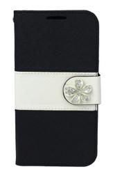 LG F60 Tribute MM Flower Wallet Black
