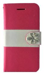 LG F60 Tribute MM Flower Wallet Pink