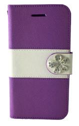 LG F60 Tribute MM Flower Wallet Purple