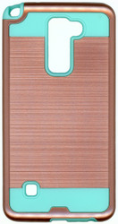 LG Stylo 2 Slim Dura Metal Finish Rose Gold & Teal