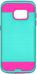 Samsung Galaxy S7 Slim Dura Metal Finish Green & Pink