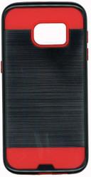 Samsung Galaxy S7 Slim Dura Metal Finish Black & Red
