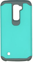 LG K10 MM Slim Dura Case Teal&Grey