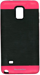 Samsung Note 4 MM Slim Duo Case Black & Dark Pink