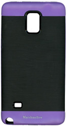 Samsung Note 4 MM Slim Duo Case Black & Purple