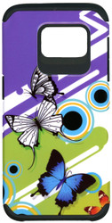 Samsung Galaxy S7 Edge MM Slim Dura Purple Butterfly