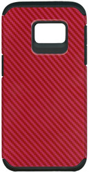 Samsung Galaxy S7 MM Slim Dura Carbon Fiber Kevlar Red