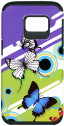Samsung Galaxy S7 MM Slim Dura Purple Butterfly