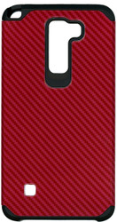 LG Stylo 2 MM Slim Dura Carbon Fiber Kevlar Red