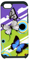 Iphone SE/5S/5 MM Slim Dura Purple Butterfly