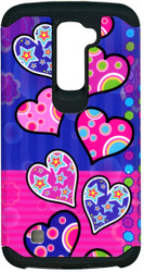 LG K10 MM Slim Dura Polka Dot Heart