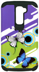 LG K10 MM Slim Dura Purple Butterfly