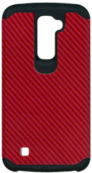 LG K10 MM Slim Dura Carbon Fiber Kevlar Red