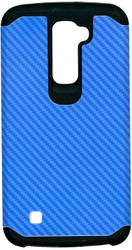LG K10 MM Slim Dura Carbon Fiber Kevlar Blue