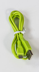 Micro Round USB Cable Green