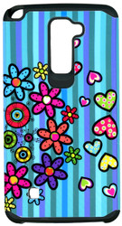 LG Stylo2 PLUS  MM Slim Dura Flowers&Hearts