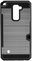 LG Stylo 2 PLUS  Slim Dura Case Metal Finish With Card Holder Ink Blue