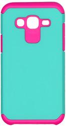 Samsung Galaxy J5 MM Slim Dura Case Teal&Pink