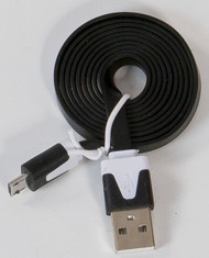 Micro Flat USB Cable Black