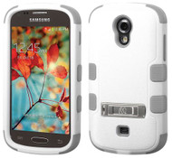 Samsung Galaxy Light T399 MYBAT Natural Cream White/Iron Gray TUFF Hybrid Phone Protector Cover (with Stand)