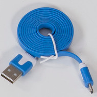Micro Flat USB Cable Blue