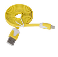 Micro Flat USB Cable Hot Yellow