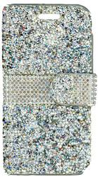 LG K3 MM Jewel Wallet Silver