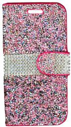 LG K3 MM Jewel Wallet Pink