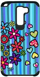 LG Stylo 2 MM Slim Dura Flowers&Heart