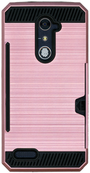 ZTE ZMax Pro MM Slim Dura Case Metal Finish With Card Holder Rose Gold