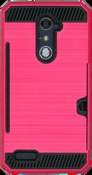 ZTE ZMax Pro MM Slim Dura Case Metal Finish With Card Holder Pink