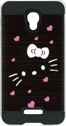 Alcatel Fierce 4 MM Slim Dura Metal Bowtie Hearts