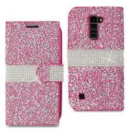 LG K10 MM Jewel Wallet Pink