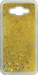 Samsung J7 Water Glitter Gold