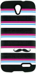 ZTE Warp 7 MM Slim Dura Metal Horizontal Moustache