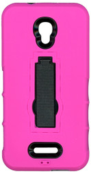Alcatel Fierce 4 Armor Horizontal With Kickstand Pink