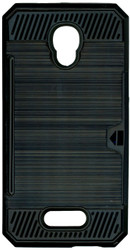 Alcatel Fierce 4 MM Slim Dura Case Metal Finish With Card Holder Black