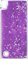 LG XPower Water Glitter Cases Purple