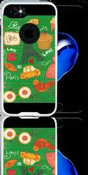 Iphone 7 MM Slim Dura Metal Green Love